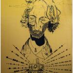 Le photographe adorateur, dessin Alain Mattei-Expo DAKAR 1976-CC BY-NC Jacques BOUBY