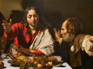 Le Souper à Emmaüs, Le Caravage, National Gallery, Londres-CC BY-NC Jacques BOUBY