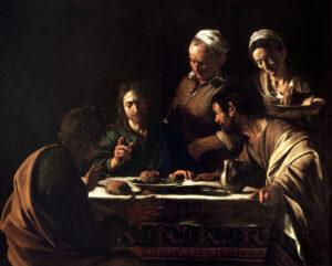 Le souper à Emmaüs, Le Caravage, Pinacothèque de Brera, Milan