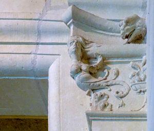 Château de Chambord, sculptures, voûte, 2 éme étage -CC BY-NC Jacques BOUBY