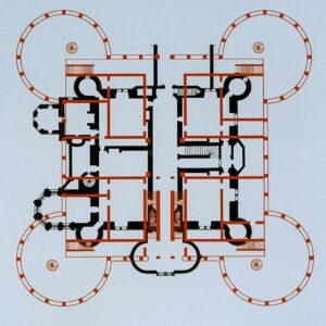Chambord, Plan du donjon, croquis de Flaminia Bardati et Eric Johannot