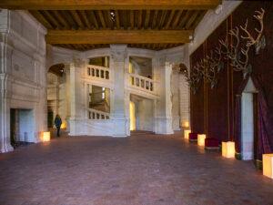 Château de Chambord, donjon, l'escalier central -CC BY-NC Jacques BOUBY
